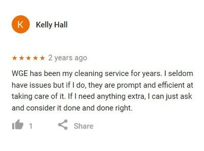 office cleaning verified google review